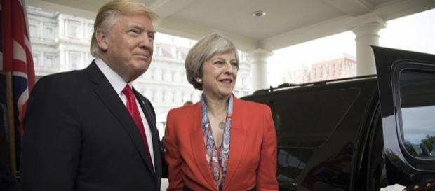 Donald Trump and Theresa May in the White House (wikimediacommons)