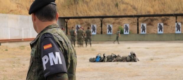 Entrenamiento de militares españoles.