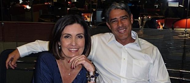 O ex-casal trabalhou junto no Jornal Nacional