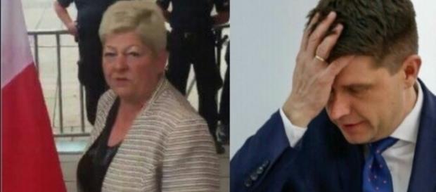 Ryszard Petru vs starsza pani (twitter.com, wp.pl)