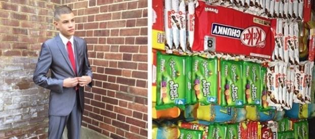 """Supranumit """"Lupul din Walthamstow"""" elevul de 15 ani și-a construit o afacere """"dulce"""" de 50.000 lire sterline pe an - Foto: Daily Mail"""
