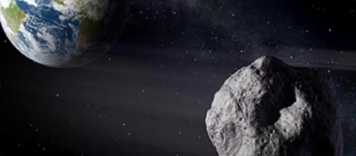 An asteroid approaches Earth (NASA - gov)