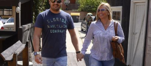 Belén Esteban y Miguel Martos.