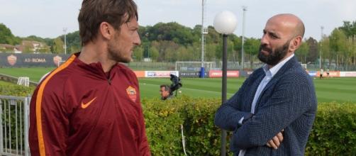 Francesco Totti e Monchi si rincontrano