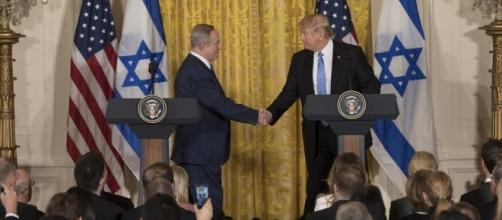 Israeli Prime Minister Benjamin Netanyahu meets with President Trump at White House. / [Image by The White House via Flickr, Public Domain]