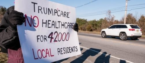 Protesting Trumpcare BCRA / [Image by John Flores via Flickr, CC BY-SA 2.0]