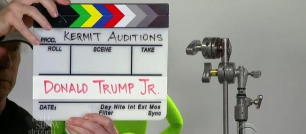 Photo Kermit auditions screen capture from YouTube/The Late Show with Stephen Colbert