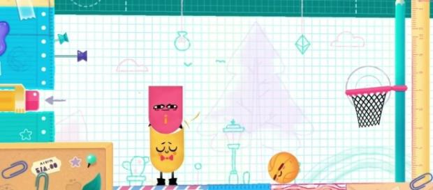 You can play 'Snipperclips' on the Nintendo Switch with a friend (image source: YouTube/XCageGame)
