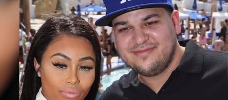Rob Kardashian with his ex-fiancee Blac Chyna / Photo via Hollyscoop, YouTube