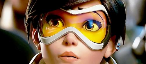 """An """"Overwatch"""" player discovered a weird Easter egg involving Tracer (via YouTube/PlayOverwatch)"""