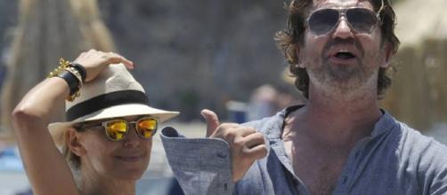 Barbara D'Urso e Gerard Butler insieme a Ischia