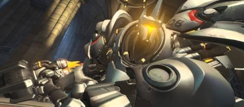 'Overwatch' hero Reinhardt charging into action (image source: YouTube/Overwatch)