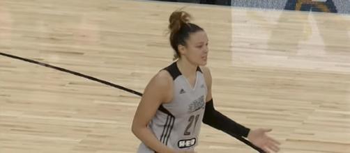 San Antonio's Kayla McBride led the way for the Stars' second win of the season on Wednesday. [Image via WNBA/YouTube]