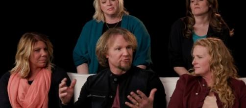 The 'Sister Wives' family from a screenshot