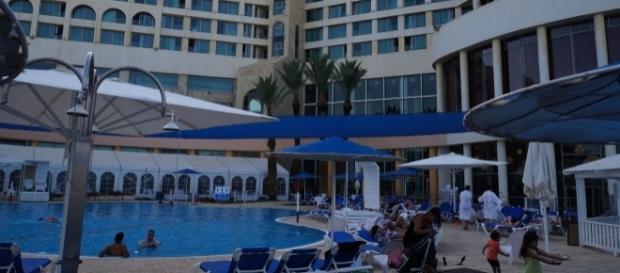 Dead Sea, complexo hoteleiro no Mar Morto (Foto: Adriana Reis)