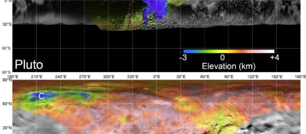 NASA scientists' digital elevation models of Pluto and Charon / photo via NASA/JHUAPL/SwRI/LPI