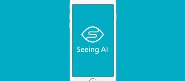The Seeing AI app | credit, Microsoft, YouTube