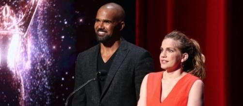 Anna Chlumsky and Shemar Moore annoucing the 2017 Emmy Award nominations. / from 'DigitalSpy' - digitalspy.com