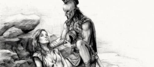 Aquiles y Pentesilea en el momento de la muerte