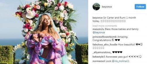 Beyoncé com os gêmeos, Sir e Rumi