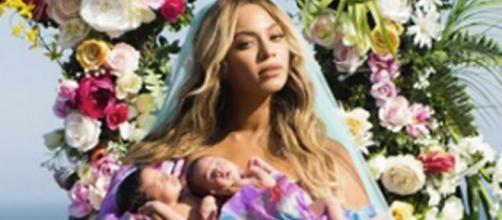 Beyonce shows off twins and weird weight loss or plastic surgery? Source Youtube