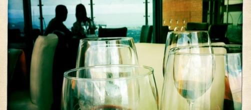 Foto tomada con mi iPhone. Una copa de vino siempre es fotogénica.