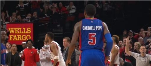 Kentavious Caldwell-Pope during his days with the Detroit Pistons. Photo - YouTube Screenshot/@NBA