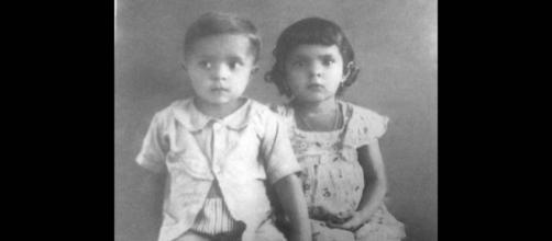 Lula ao lado de sua irmã mais velha