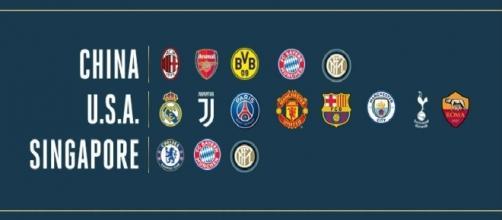Squadre partecipanti alla International Champions Cup 2017