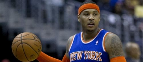 The Knicks reportedly want to keep All-Star Carmelo Anthony -- Keith Allison via WikiCommons