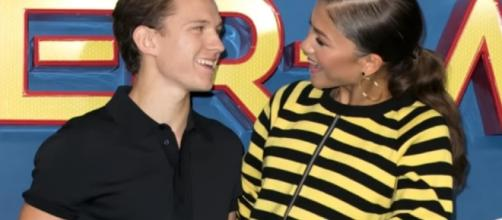 Zendaya and Tom Holland (Youtube/E!News).