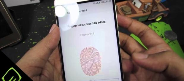 Fingerprint is a common body part used in biometric technology. Photo via Greedy Tech, YouTube.
