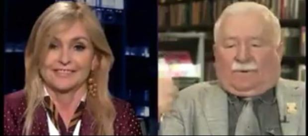 Lech Wałęsa i Monika Olejnik (źródło: youtube.com).