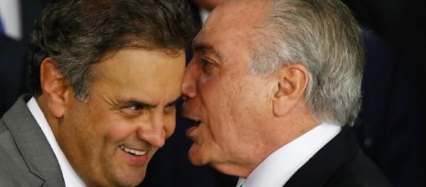 Michel Temer e Aécio Neves já estiveram bem próximos no cenário político