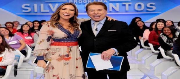 Patrícia Abravanel e Silvio Santos.