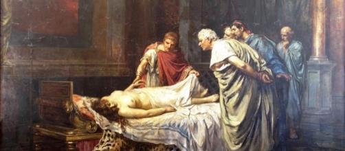 Arturo Montero y Calvo - Nerón ante el cadáver de su madre, Agripina la Menor (1859-1887)
