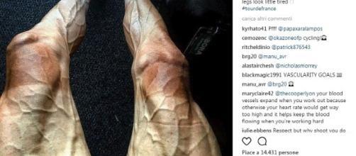 Le gambe di Poljanski - foto: profilo instagram atleta