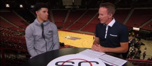 Lonzo Ball compares LeBron James to Michael Jordan. Image Credit: ESPN / YouTube