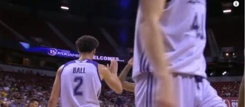 Los Angeles Lakers guard Lonzo Ball during the NBA Las Vegas Summer League. Photo - YouTube Screenshot/@NBA