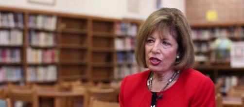 Rep. Jackie Speier spearheaded Sleeveless Friday. [Photo via Youtube/thelowell.org]