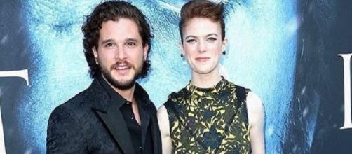 'Game of Thrones' stars Kit Harington and Rose Leslie / Photo via Kit Harington , Instagram