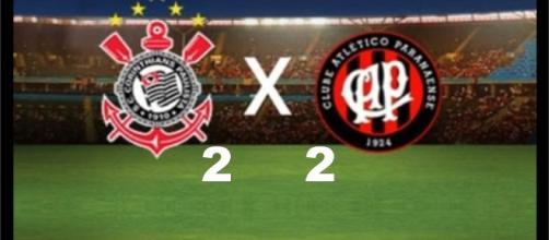 O Atlético-PR comemorou o empate com o Corinthians e o time está mais confiante