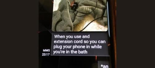 Photo Madison Coe's final text message courtesy Lovington Police Department