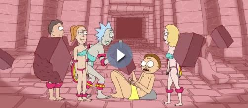 Screen grab from Rick and Morty season 3 clip released by Adult Swim