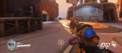 The location in Waterpoint: Gibraltar where the 'Overwatch' glitch is (image source: YouTube/RadyOW)
