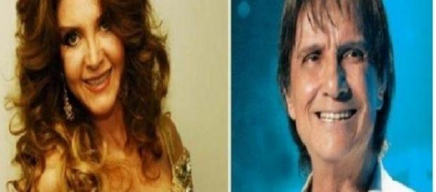 A cantora Wanderléa e o 'Rei' Roberto Carlos, da Jovem Guarda