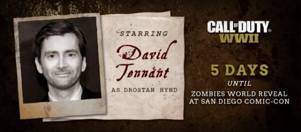 'Call of Duty: WWII' 'Dr.Who' actor unveiled as Zombies Mode's Drostan Hynd(Call of Duty/Twitter)