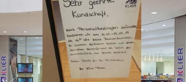 Klier in den Zwickauer Arcaden informierte missverständlich / Fotos: Klier; Sandra S.* & Maria G.* Facebook