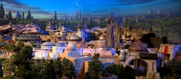 "Photo land model of Disney's ""Star Wars: Galaxy's Edge"" screen capture from YouTube/Disney Parks"