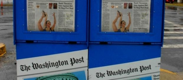 Washington Post newspaper vending machines. / [Image by Elvert Barnes via Flickr, CC BY 2.0]